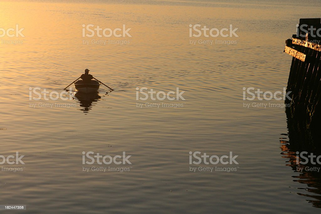Evening Paddle royalty-free stock photo