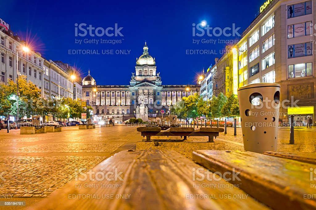 Evening Prague stock photo