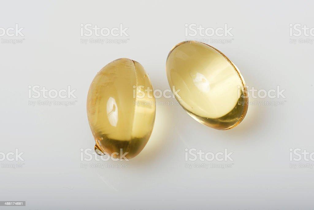 Evening primrose capsules royalty-free stock photo
