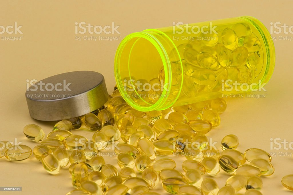 Evening Primrose oil royalty-free stock photo