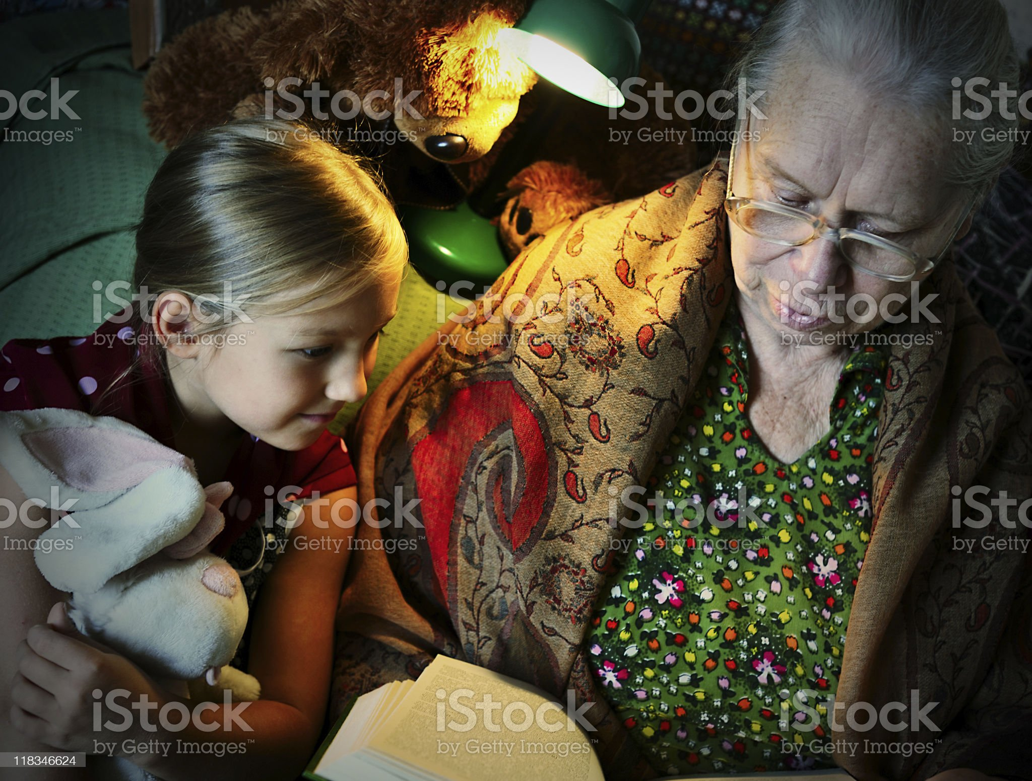 Evening reading royalty-free stock photo
