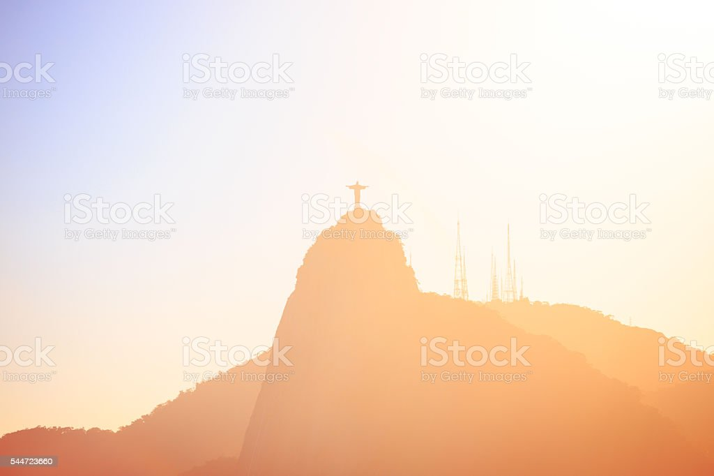 evening Rio hills abstract shot stock photo