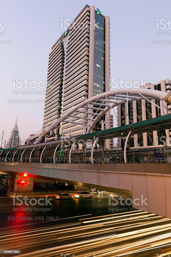 Evening Rush Hour Bangkok Thailand stock photo