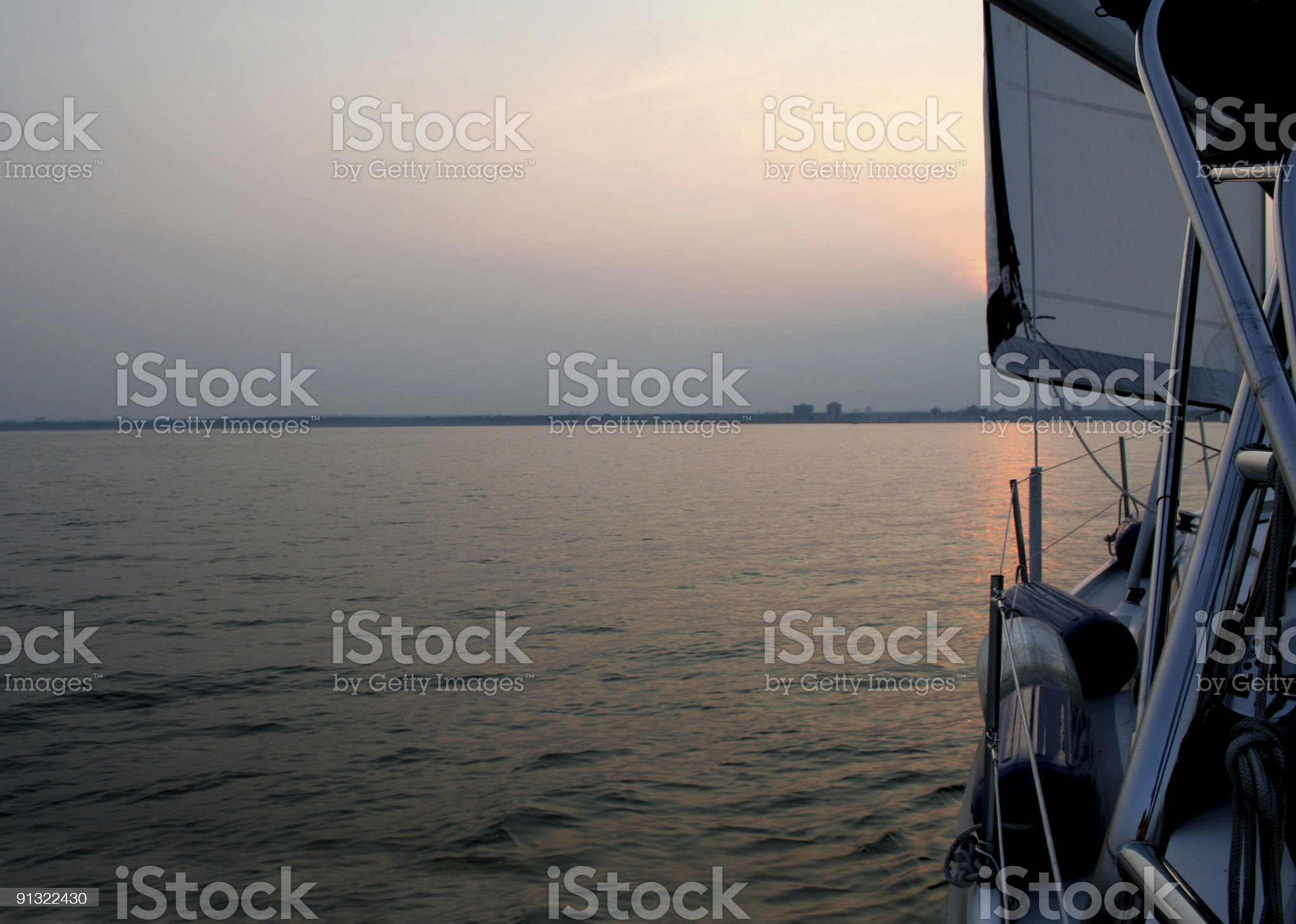 Evening Sail royalty-free stock photo