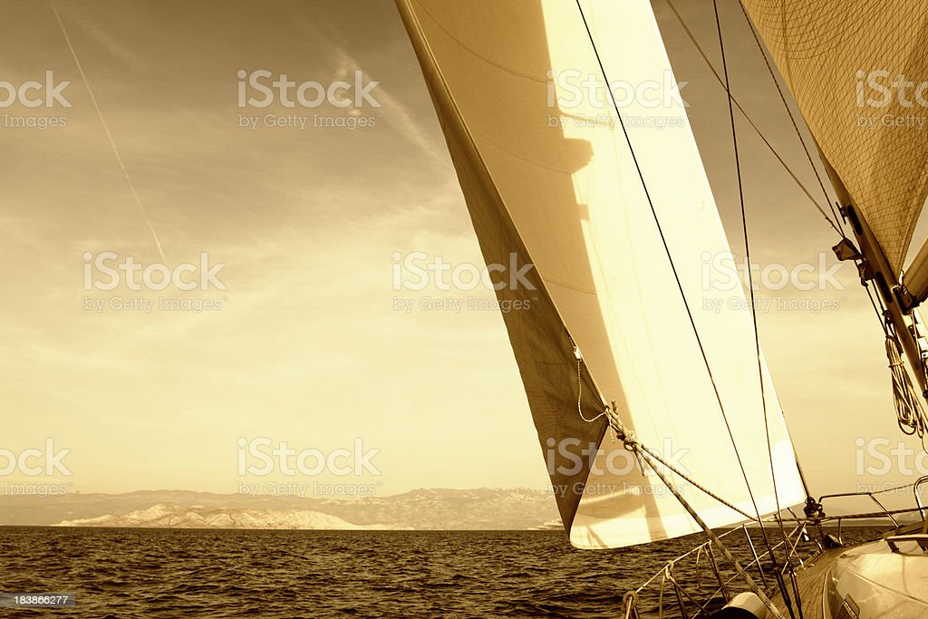 evening sailing royalty-free stock photo
