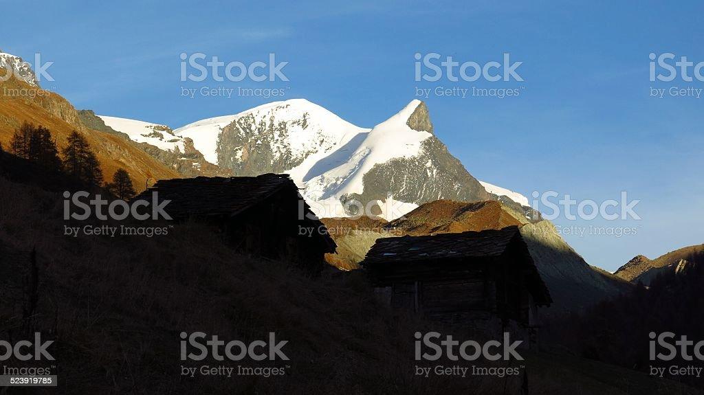 Evening scene near Zermatt stock photo
