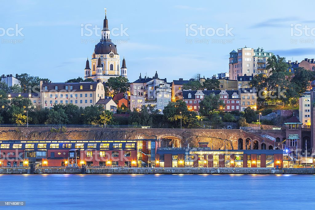 Evening scenery of Stockholm, Sweden royalty-free stock photo