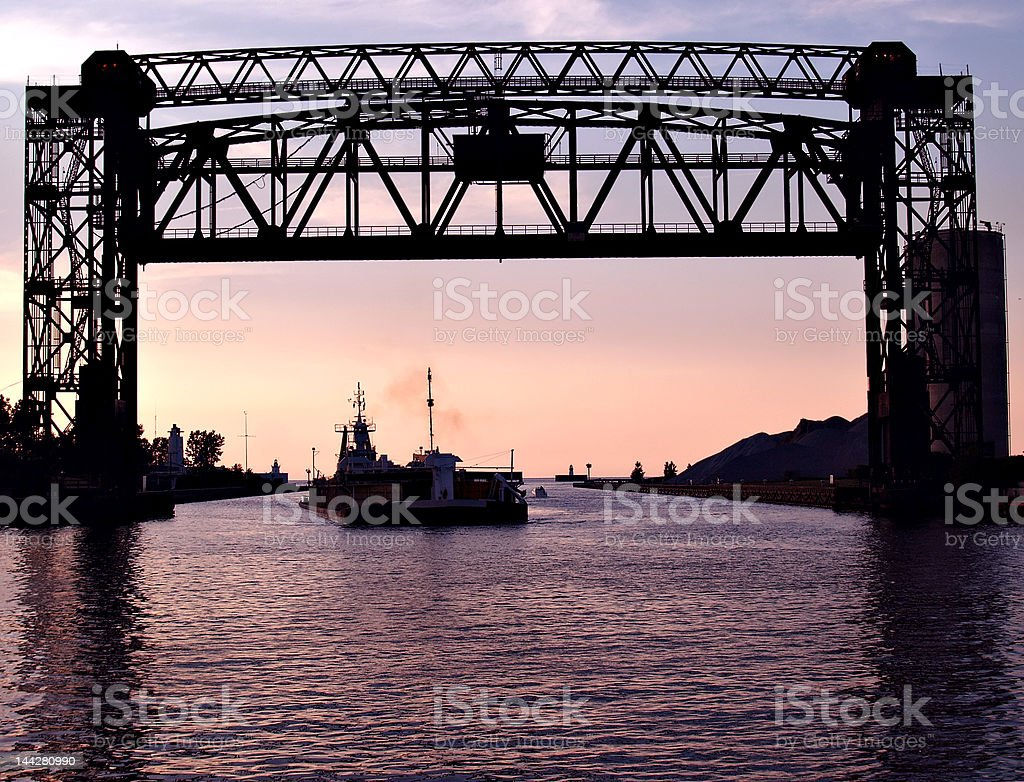 Evening Shipping stock photo