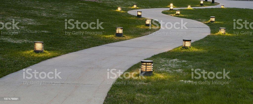 Evening Sidewalk stock photo