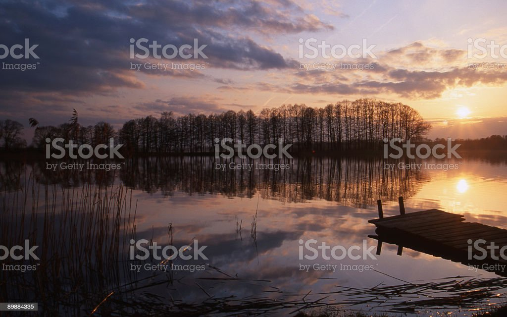 evening silence on the lake royalty-free stock photo