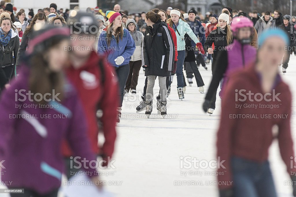 Evening Skating royalty-free stock photo