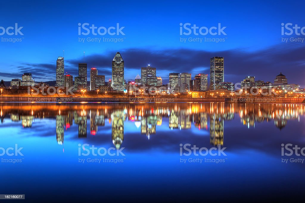 Evening Sky On Montreal City royalty-free stock photo