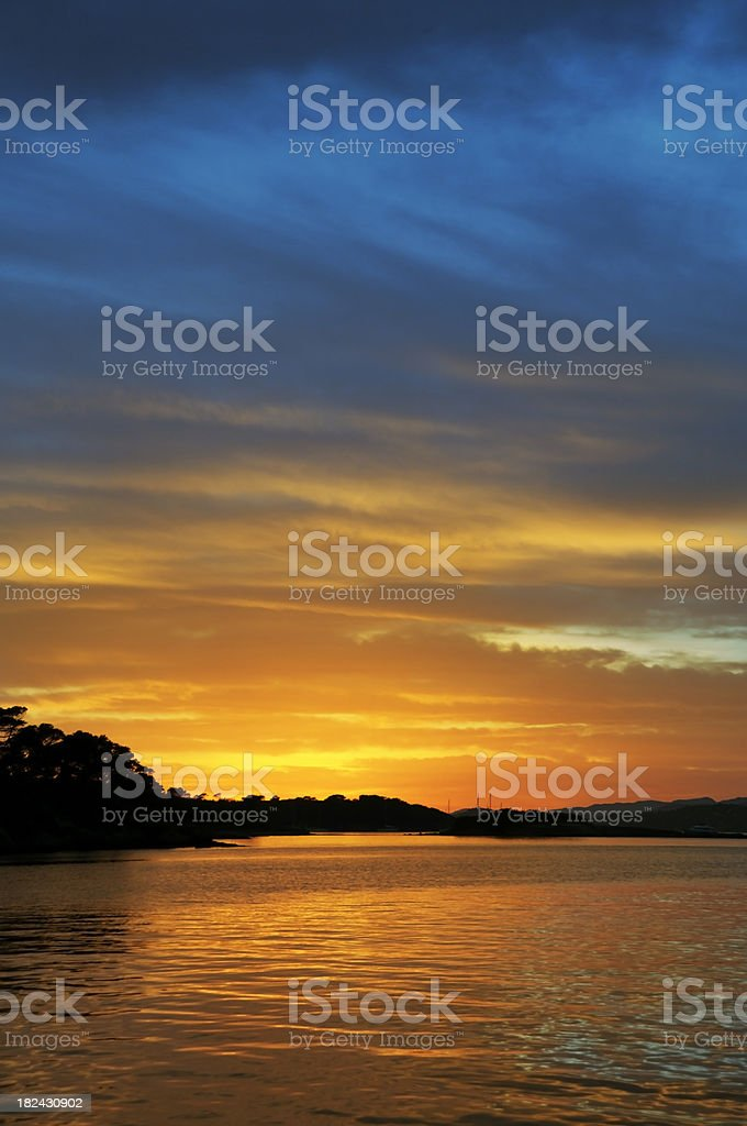 Evening sky royalty-free stock photo