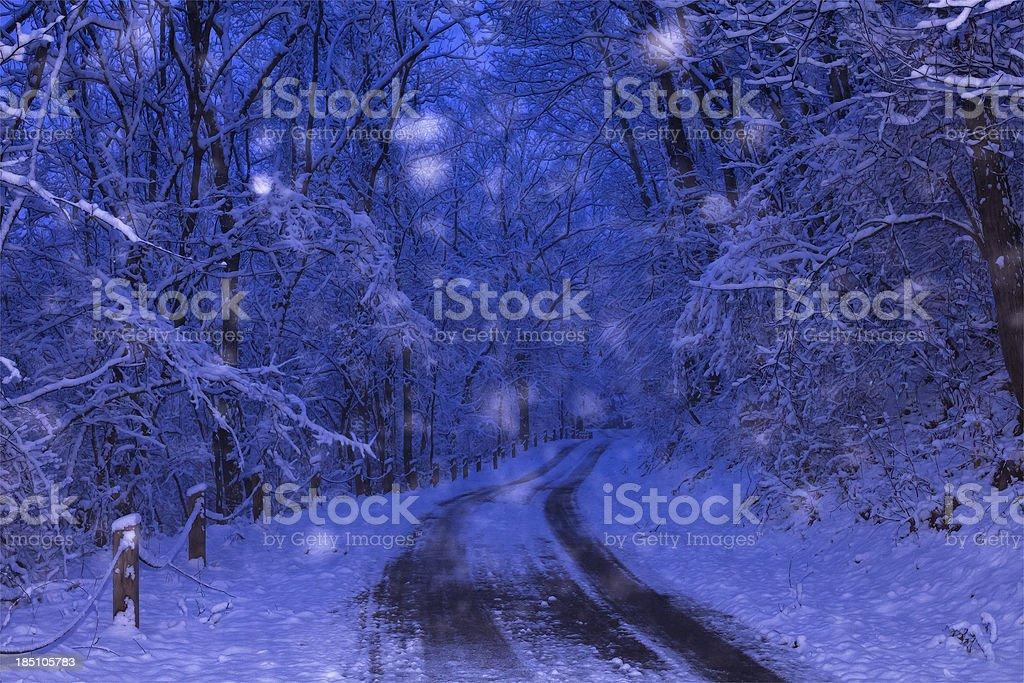 Evening Snow Flurries royalty-free stock photo