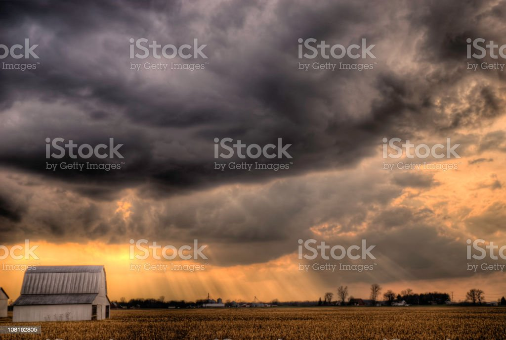 Evening Storm royalty-free stock photo
