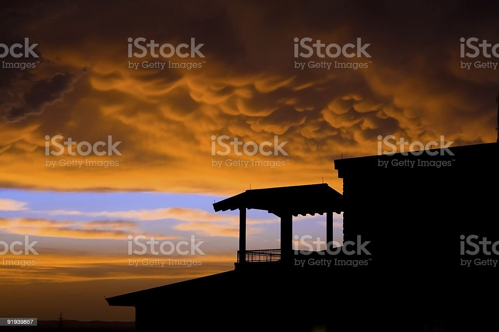 evening storm stock photo