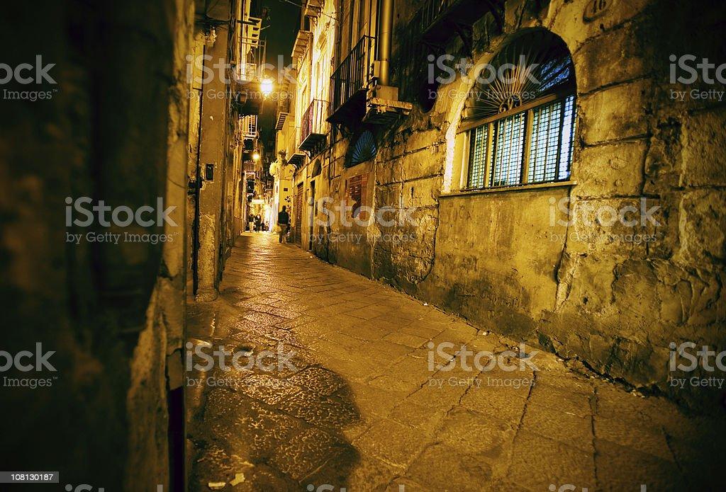 evening street scene royalty-free stock photo