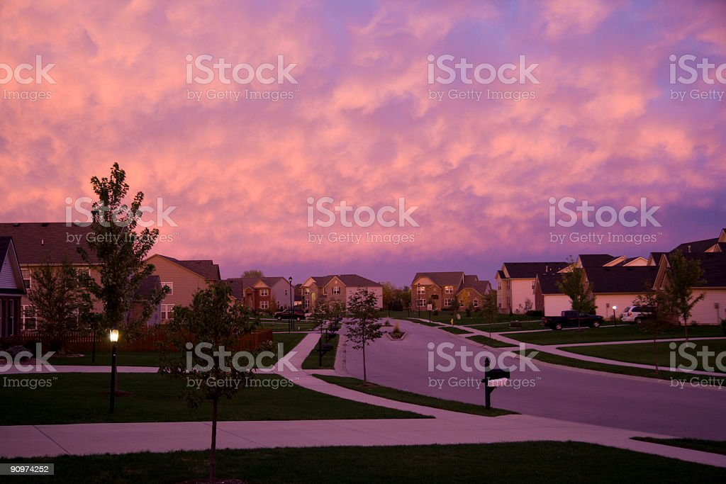 Evening suburbia royalty-free stock photo