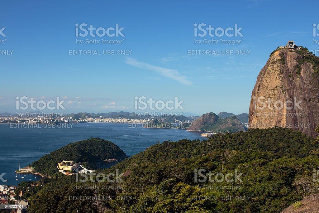 evening Sugar Loaf mountain at Rio stock photo