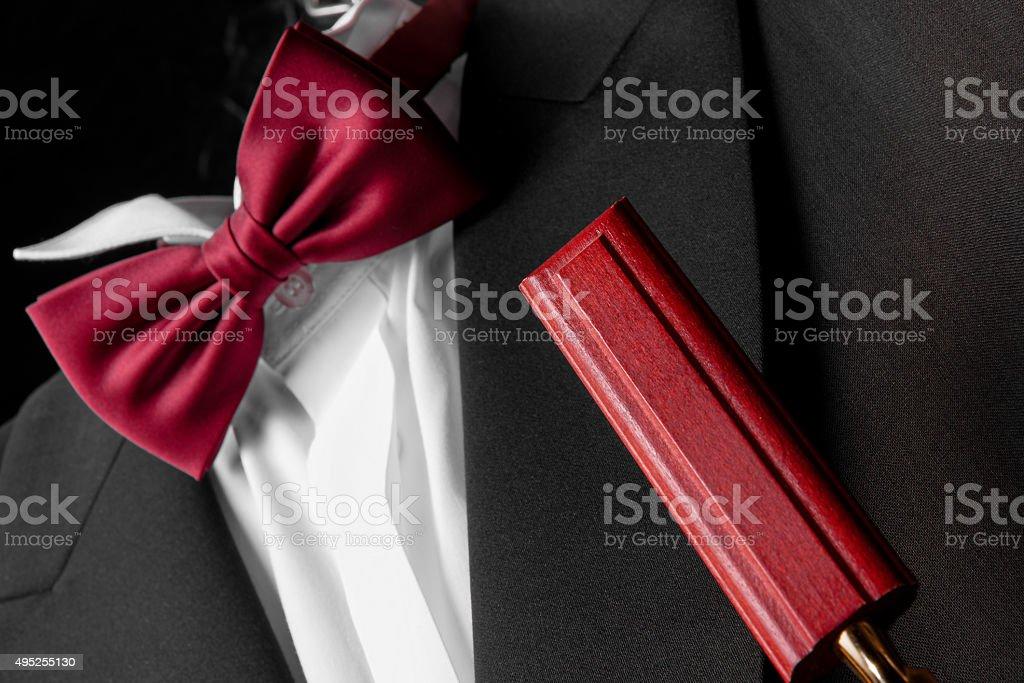 Evening suit closeup stock photo