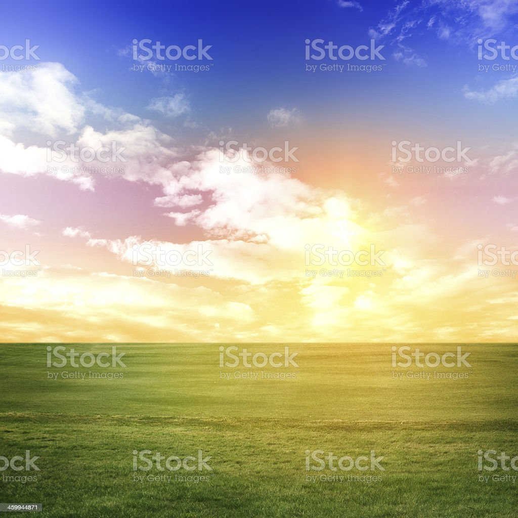 Evening summer background royalty-free stock photo