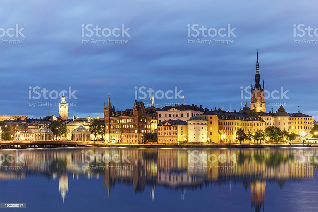 Evening summer scenery of Stockholm, Sweden royalty-free stock photo