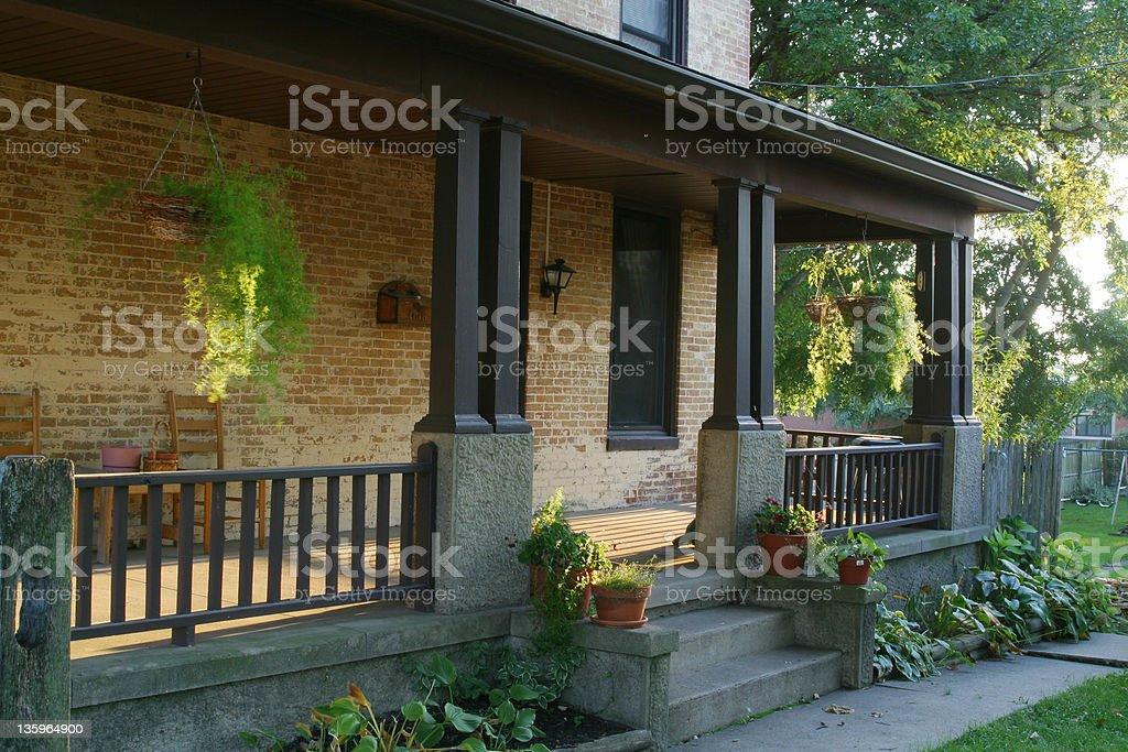 Evening Sun On Porch 1 stock photo