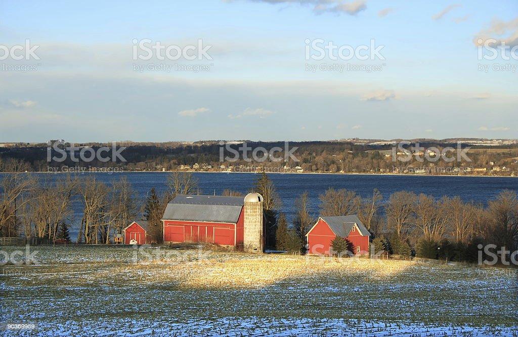 Evening Sun on the Farm stock photo