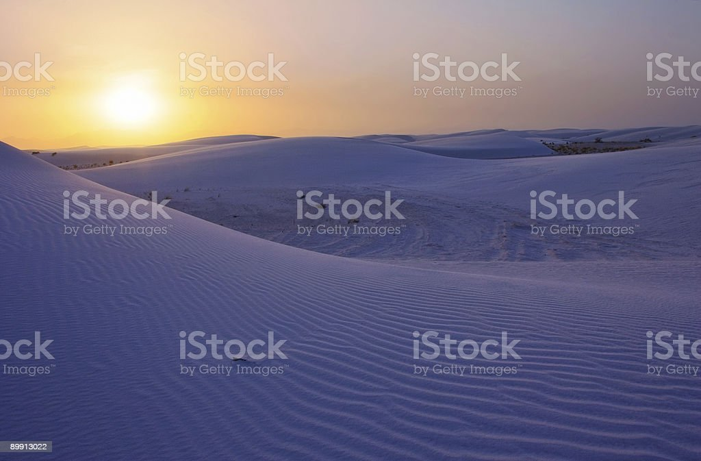 Evening Sun over White Sands royalty-free stock photo