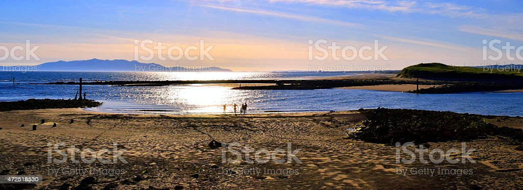 Evening sunlight on the Coast, Irvine stock photo