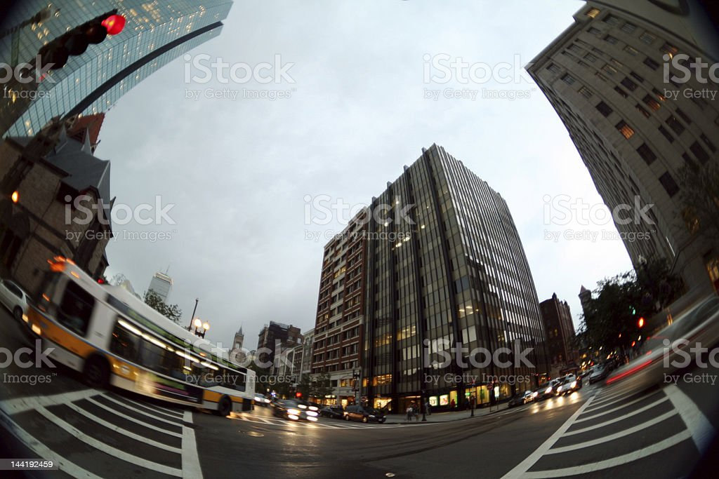 Evening Traffic royalty-free stock photo