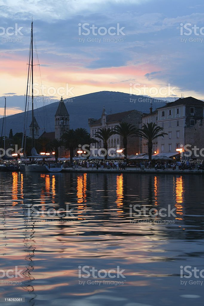 evening Trogir royalty-free stock photo