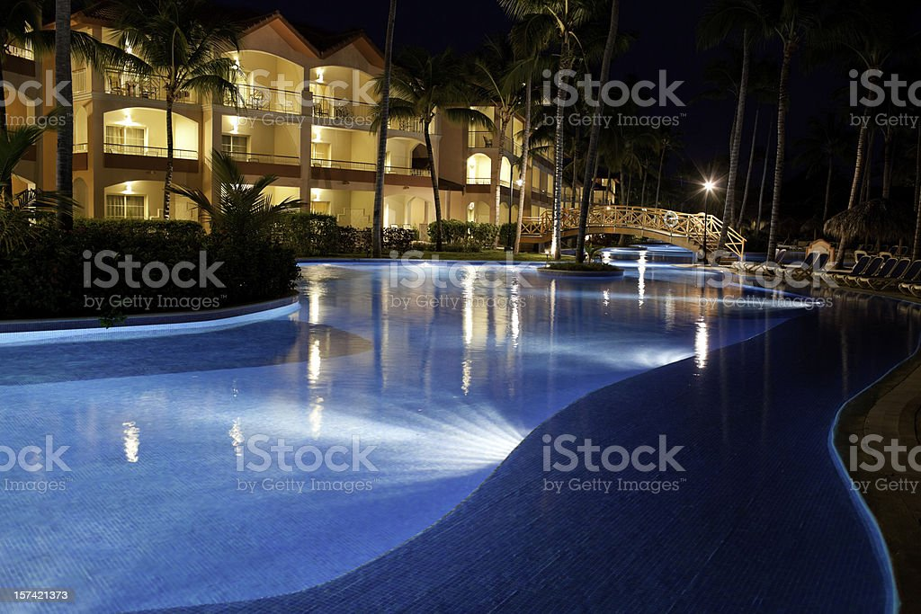 Evening Vacation Resort royalty-free stock photo