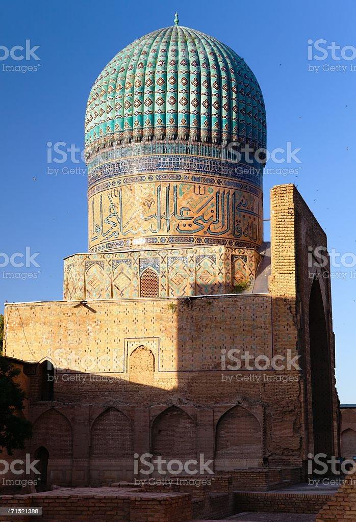 Evening view from Bibi-Khanym mosque stock photo