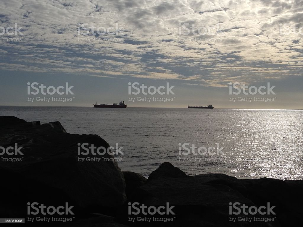 Evening View of Pasific Ocean stock photo