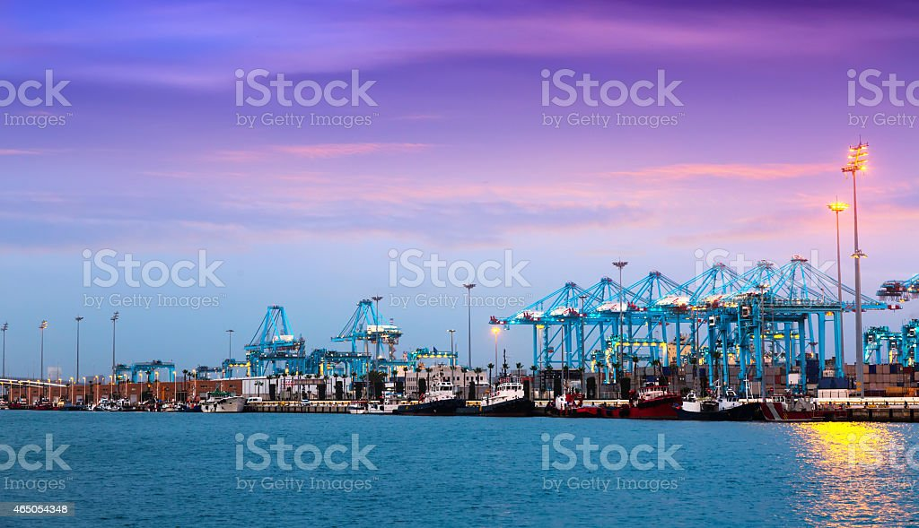 Evening view of  Port stock photo