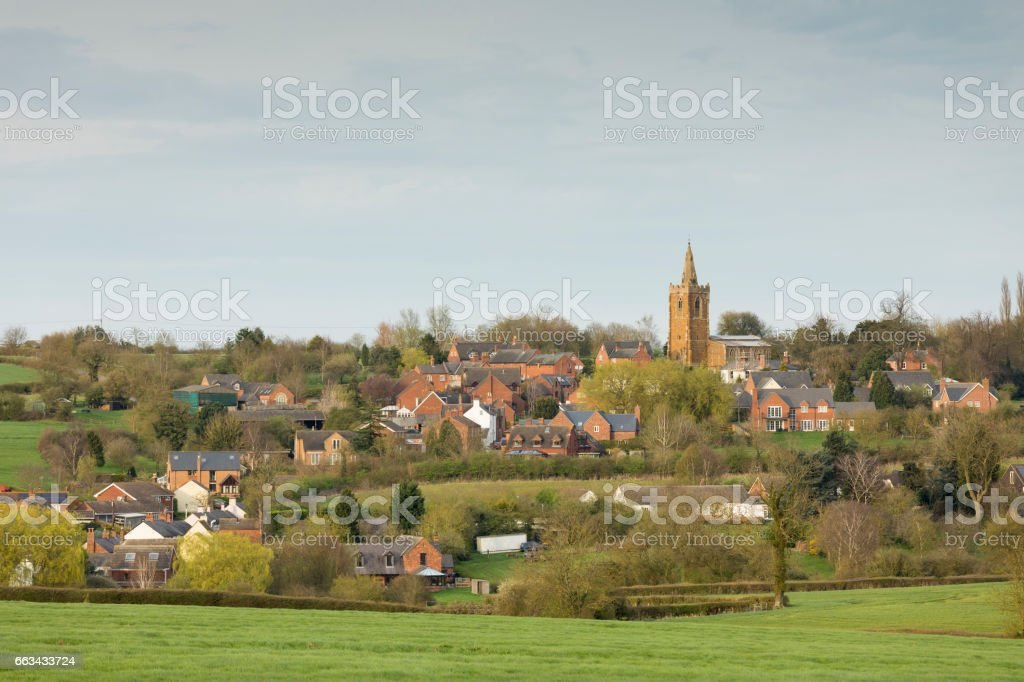 Evening View Of The Village stock photo