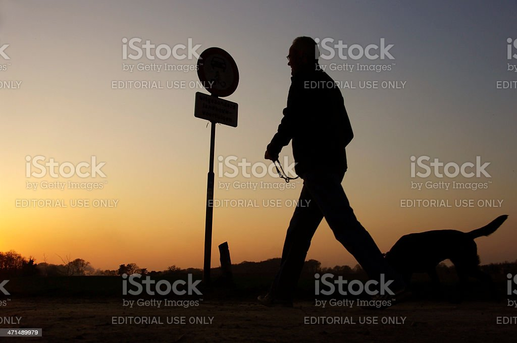 Evening walk royalty-free stock photo