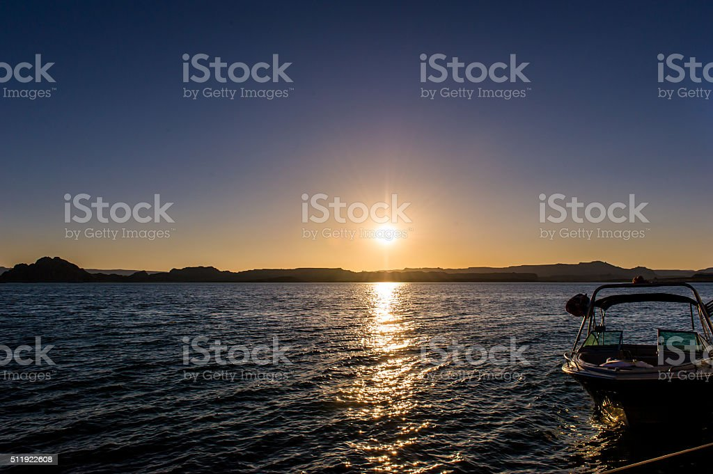 Evening welcomes spare cash stock photo