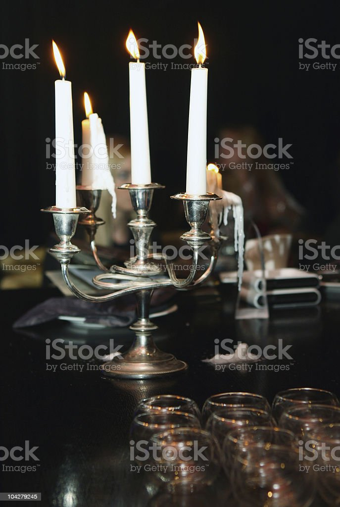 Evening with candles royalty-free stock photo