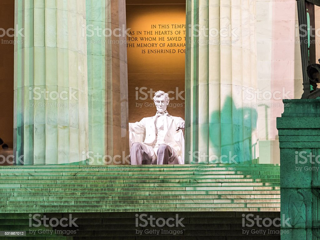 Evening with Lincoln stock photo