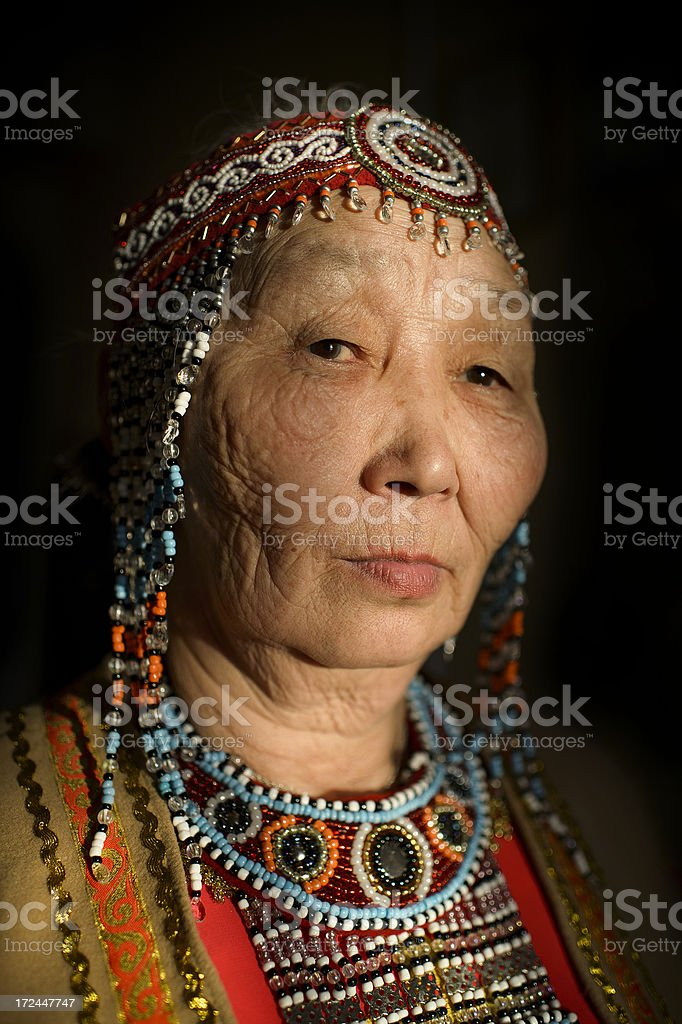 Evenk Woman stock photo