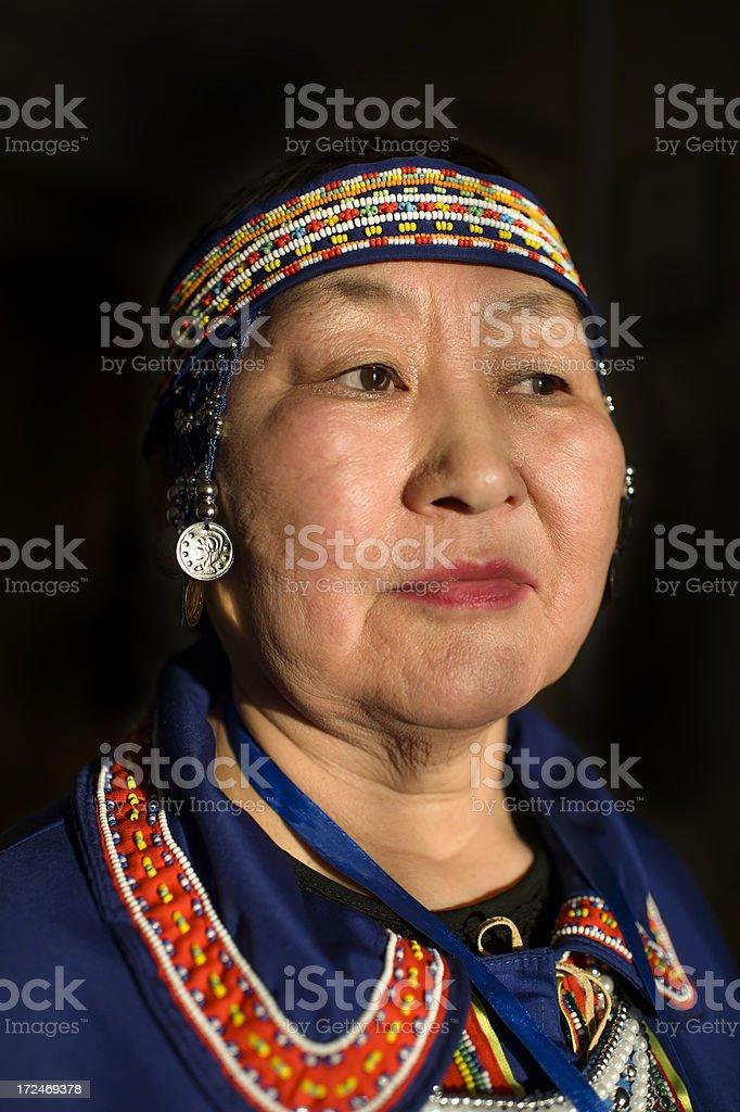 Evenk Woman royalty-free stock photo