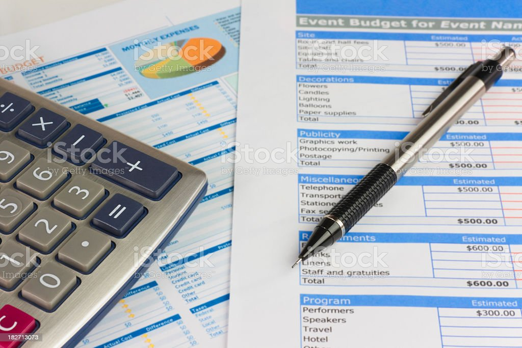 Event Budget Planning stock photo