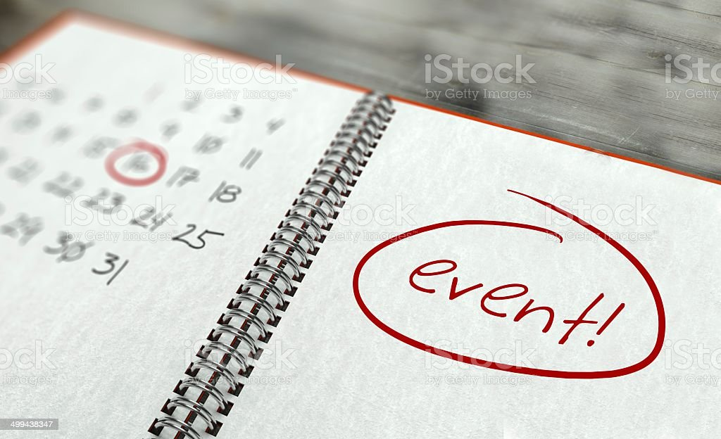 Event important day, calendar concept stock photo