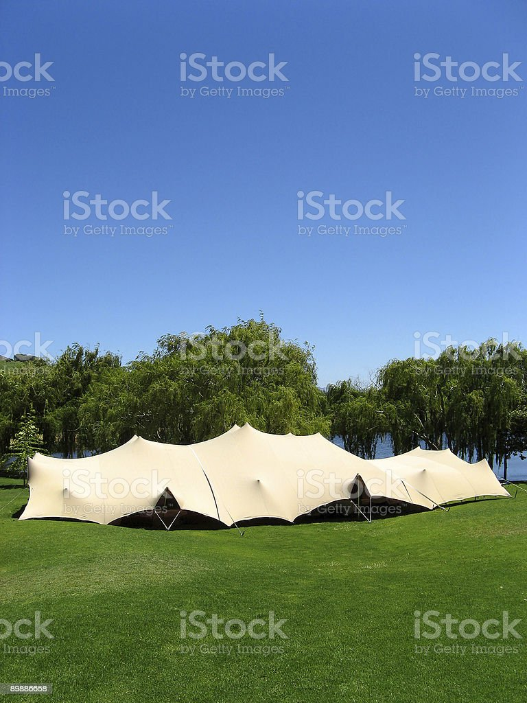 Event in a tent. royalty-free stock photo