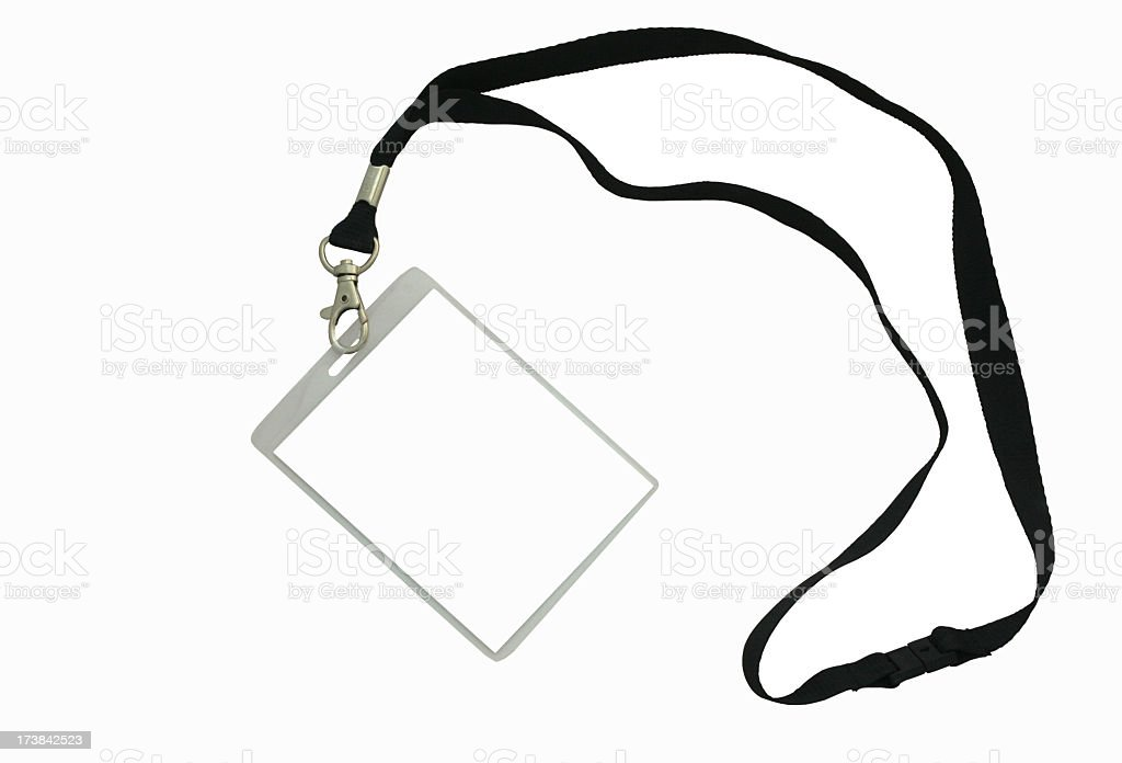 Event Name Badge stock photo