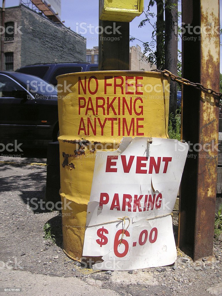 Event Parking (No Free Parking Anytime) stock photo