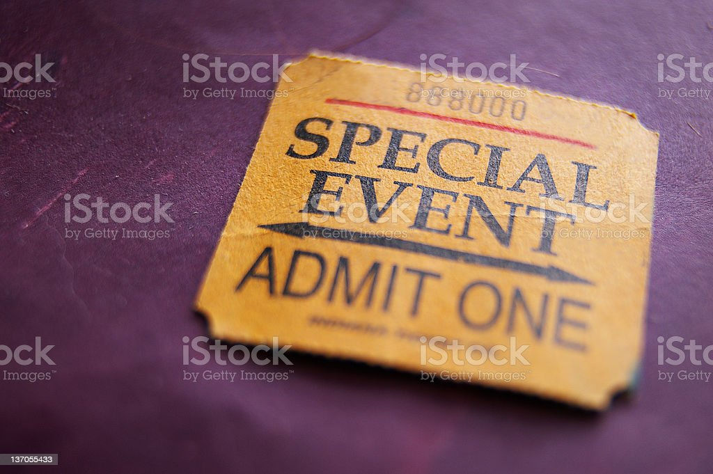 event stub royalty-free stock photo