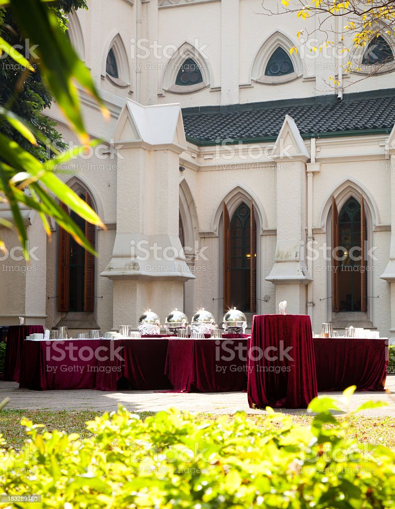 Event Tables royalty-free stock photo